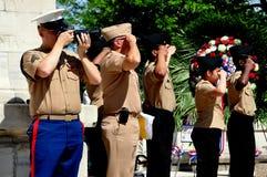 NYC: Cadetes en las ceremonias de Memorial Day Foto de archivo