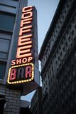 Nyc cafe neon sign royalty free stock photography