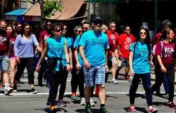 NYC: Camminatori della passeggiata 2014 dell'AIDS Immagine Stock Libera da Diritti