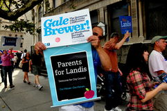 NYC:Campaigners Maraching for Local Politicians Stock Photo