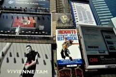 NYC: Carteleras del Times Square Imagen de archivo libre de regalías