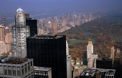 NYC: Central Park And Midtown Towers Stock Photos