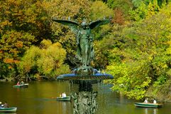 NYC: Central Park Bethesda Fountain Stock Image