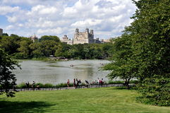 NYC: Central Park Boating Lake Royalty Free Stock Photo