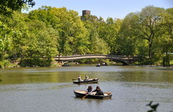 NYC: Central Park Boating Lake Royalty Free Stock Images
