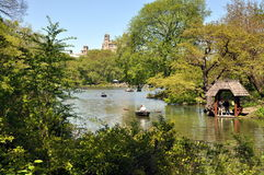 NYC:Central Park Boating Lake Stock Photography