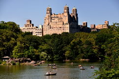 NYC: Central Park Boating Lake Stock Image