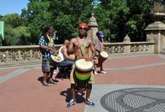NYC: Central Park Drummers Stock Images
