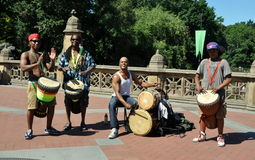 NYC: Central Park Drummers Stock Photography