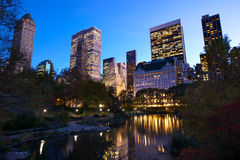 NYC Central Park at dusk Royalty Free Stock Photos