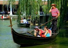 NYC: Central Park Gondola Royalty Free Stock Image