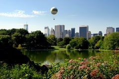 NYC: Central Park and Greensward Balloon Stock Photography