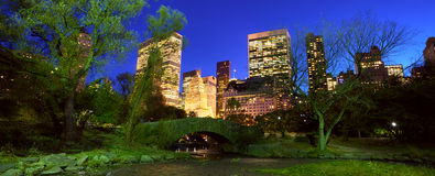 NYC Central Park at night Royalty Free Stock Photo