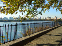 NYC Central Park reservoir Royalty Free Stock Photos