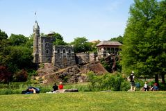 NYC: Central Park's Belvedere Castle Stock Photography