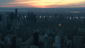 Nyc central park sunset aerial. Video of nyc central park sunset aerial stock video