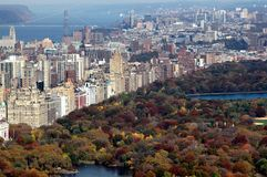 NYC: Central Park & Upper West Side View Royalty Free Stock Image