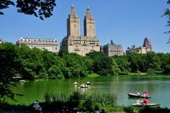 NYC: Central Park Wodniactwo jezioro Fotografia Royalty Free