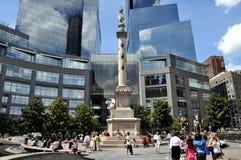 NYC : Cercle et fléau de Columbus photo stock