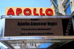 NYC : Chapiteau de théâtre d'Apollo Images libres de droits