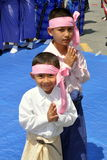 NYC: Childre at Burmese Water Festival Royalty Free Stock Images