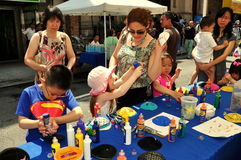 NYC: Children at Eldridge Street Festival in Chinatown Royalty Free Stock Images