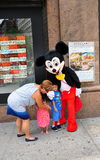 NYC: Children with Mickey Mouse Royalty Free Stock Images