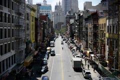 NYC - Chinatown from Manhattan Bridge royalty free stock photography