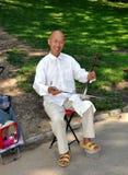 NYC: Chinese Man Playing Erhu Stock Photos