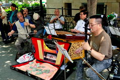 NYC: Chinese Music Concert in Chinatown Stock Photography