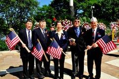NYC: Chinesisch-amerikanische Kriegsveteranen stockfotos