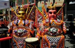 NYC: Chio-Tian aktörer på den taiwanesiska festivalen Arkivfoto