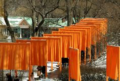 NYC:  Christo's The Gates Art Installation Royalty Free Stock Images