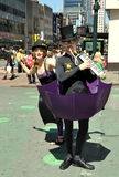 NYC: Cirque du Soleil Performers stock photos