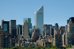 NYC: Citicorp Tower and East Side Skyline Royalty Free Stock Images