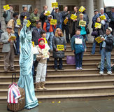 NYC City Hall Demonstration USA Royalty Free Stock Photos