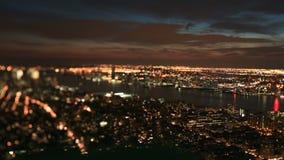 NYC Cityscape Time Lapse Tilt Shift stock video footage