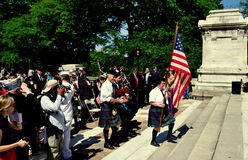 NYC: Colour Guard at Memorial Day Ceremonies Stock Photography