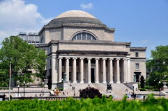 NYC: Columbia University Library. The great neo-classical Library of Columbia University is the centerpiece of the upper west side campus of this distinguished stock images