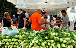 NYC: Columbus Avenue Farmer's Market Stock Photography