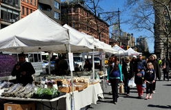 NYC: Columbus Avenue Farmer's Market Royalty Free Stock Photography