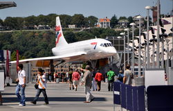 NYC: Concorde Aircraft at Intrepid Museum Royalty Free Stock Photos