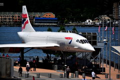 NYC:  Concorde at Intrepid Museum Stock Photos