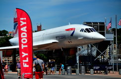 NYC: Concorde Jet at Intrepid Museum Royalty Free Stock Photos