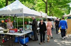 NYC: Crafts on Columbus Street Fair Stock Photo