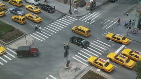 NYC Crosswalk from Above - Time Lapse - 2 stock video