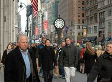 NYC: Crowds of People on Fifth Avenue