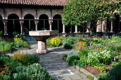 NYC: Cuxa Cloister at The Cloisters Museum Royalty Free Stock Photos