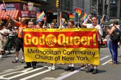 NYC : Défilé de fierté de 2010 homosexuels Image libre de droits
