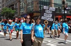 NYC : Défilé de fierté de 2012 homosexuels Photos stock